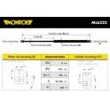 Amortecedor  capot / mola pneumatica - MONROE - Volvo S60 , Volvo V60